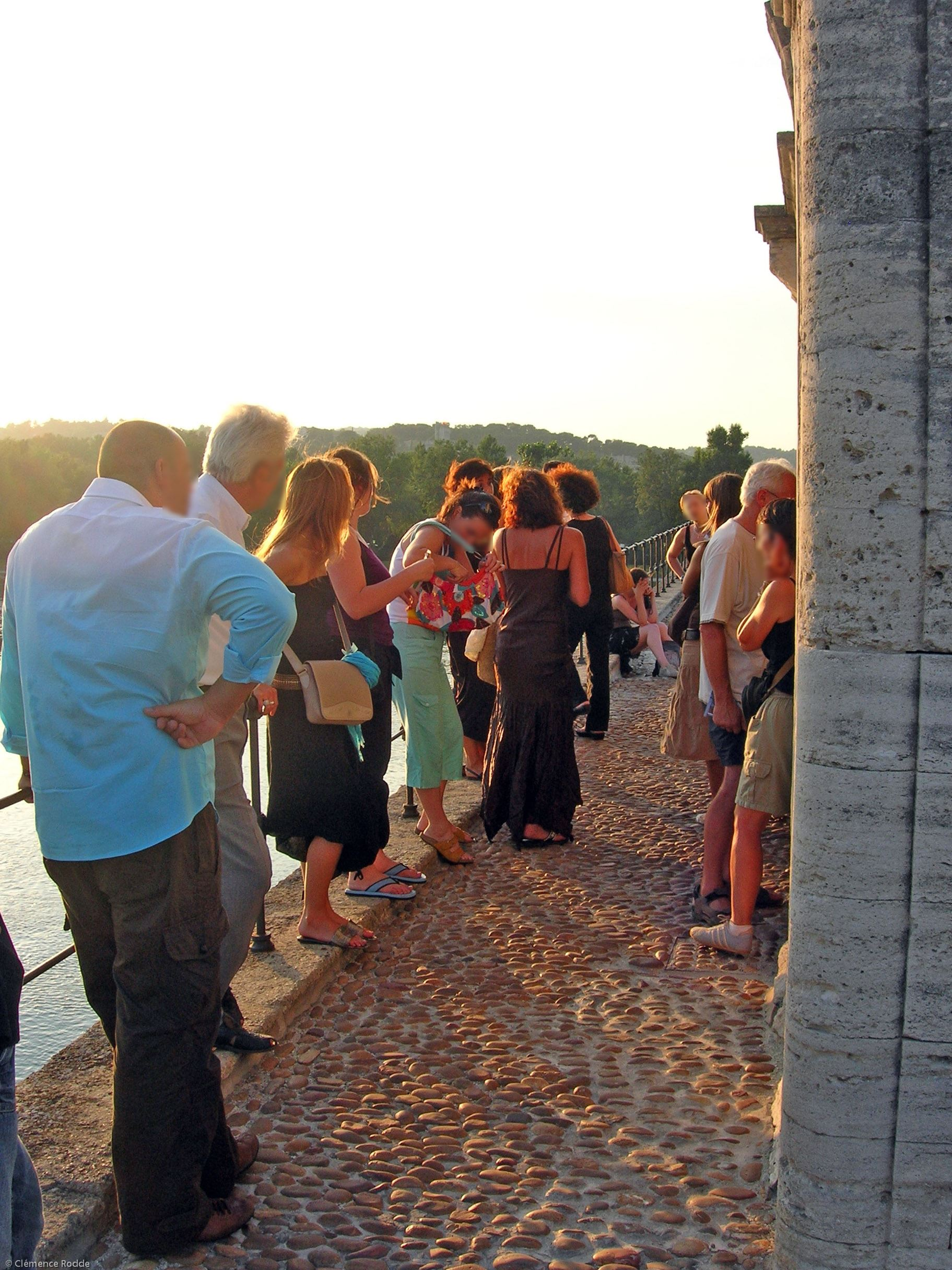 Avignon on a summer evening