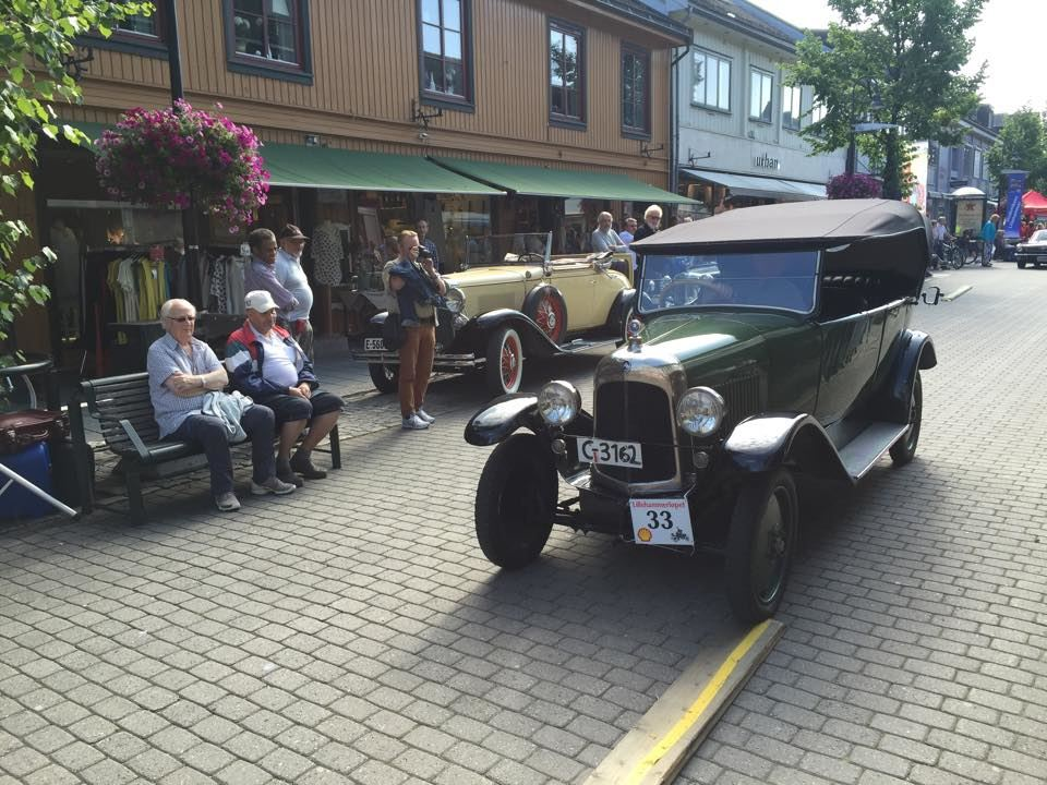 Lillehammer race for vintage cars