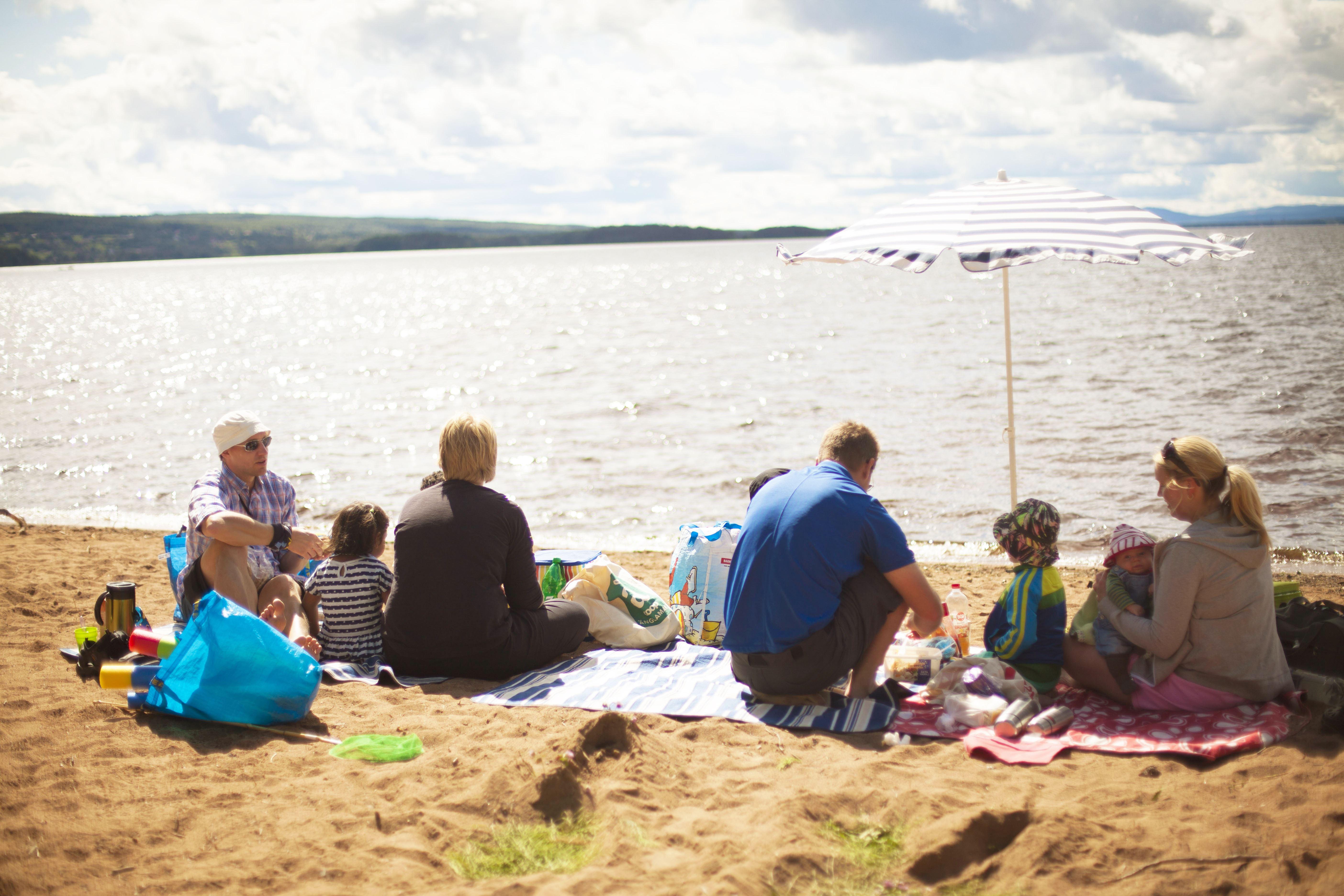 Orsa Camping beach
