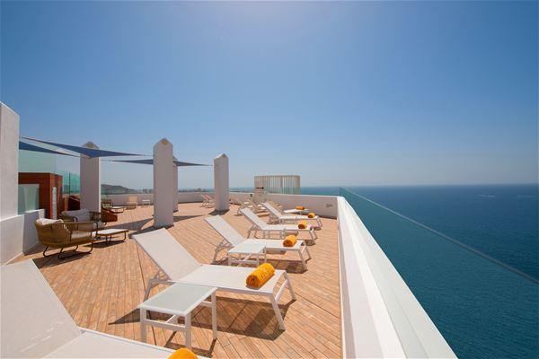 Takterass med havsutsikt, Iberostar Bouganville Playa, Adeje, Teneriffa, Signaturresor