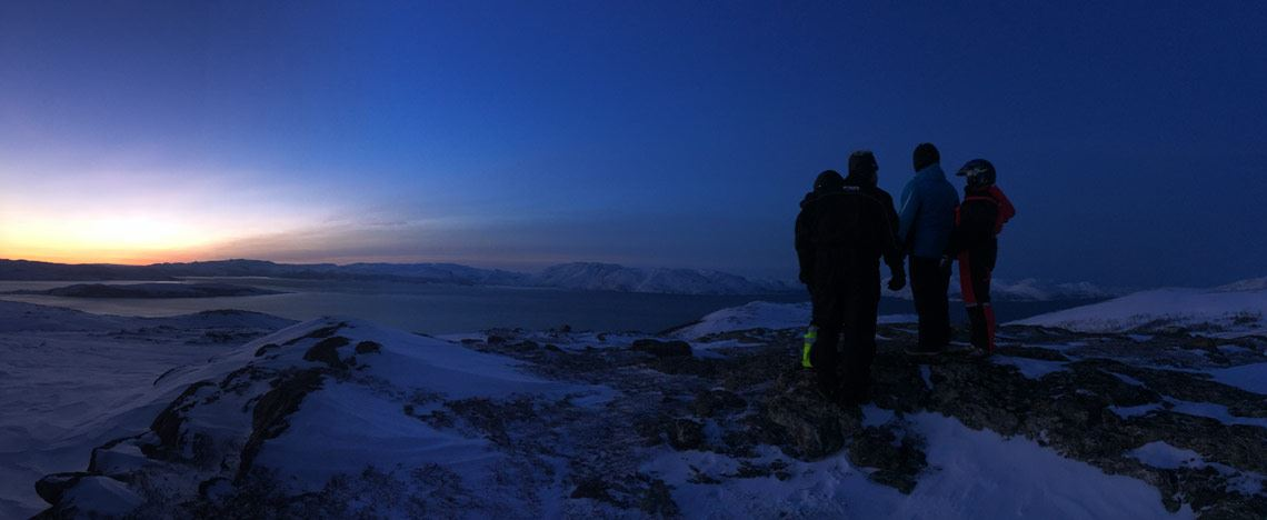© Storekorsnes Ferie & Fritid, Enjoying the view and the arctic light during polar night