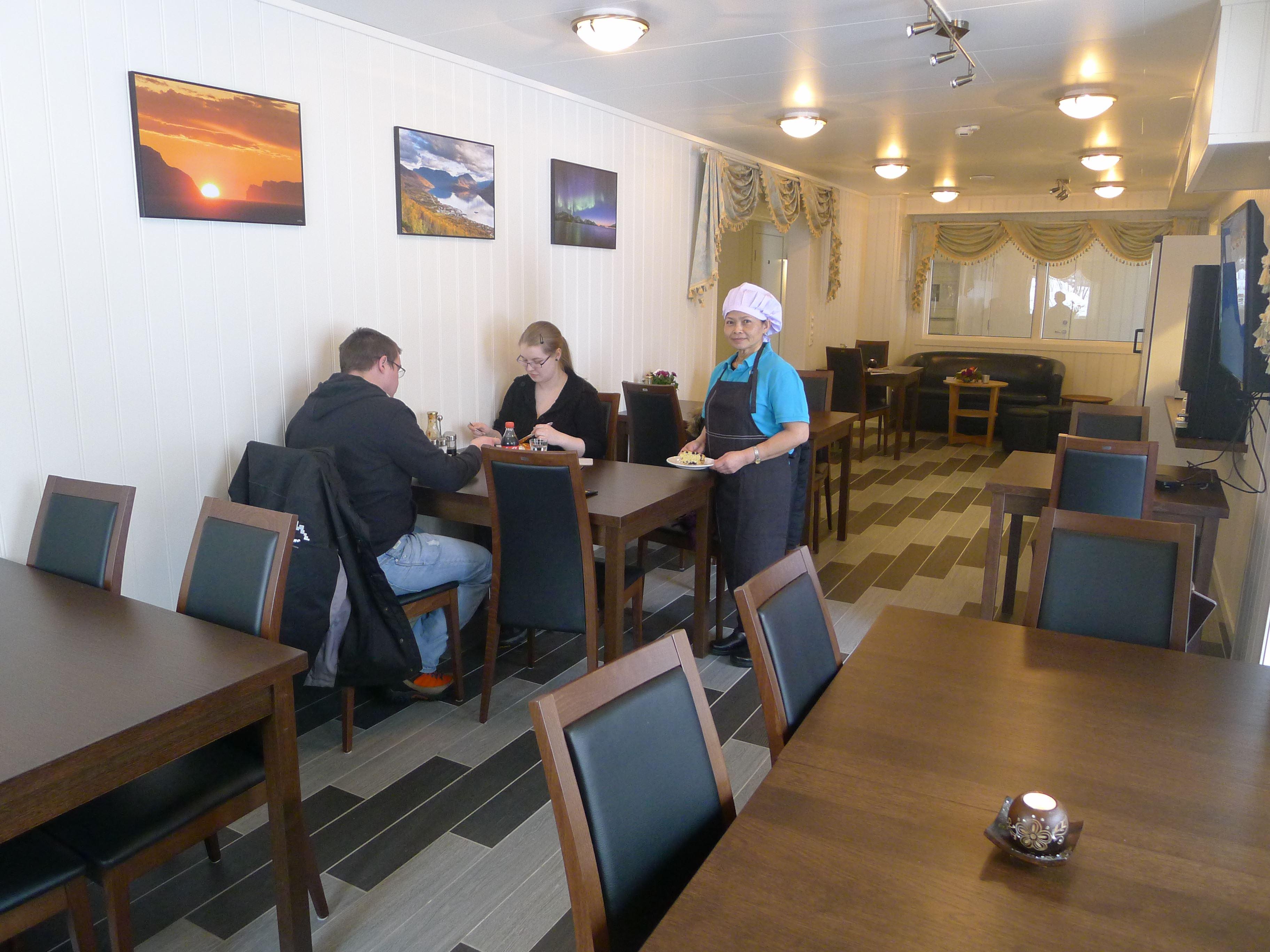 The restaurant at Håkon Gjestehus.