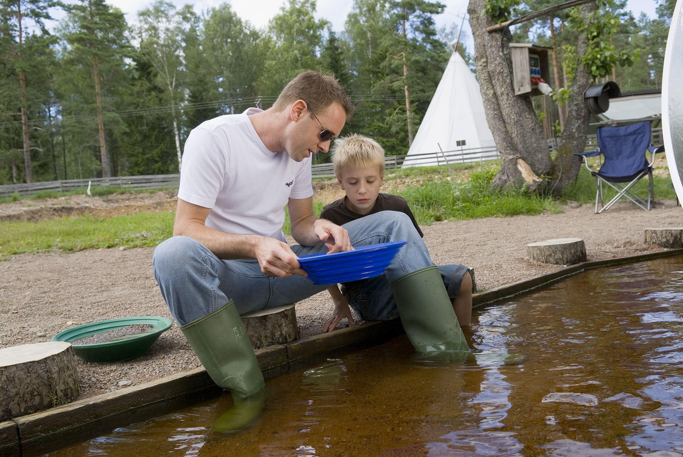 © Ädelfors guldvaskning, Guldvaskningen i Ädelfors - Stellplatz