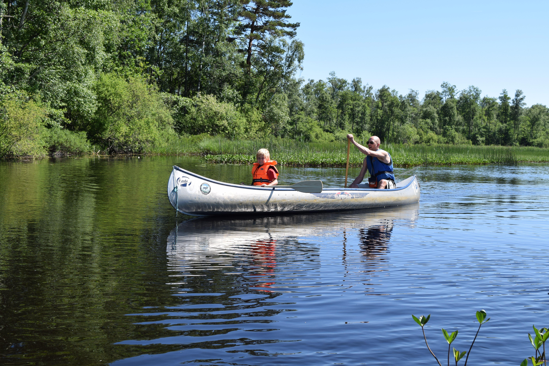 Canoe route Helge river