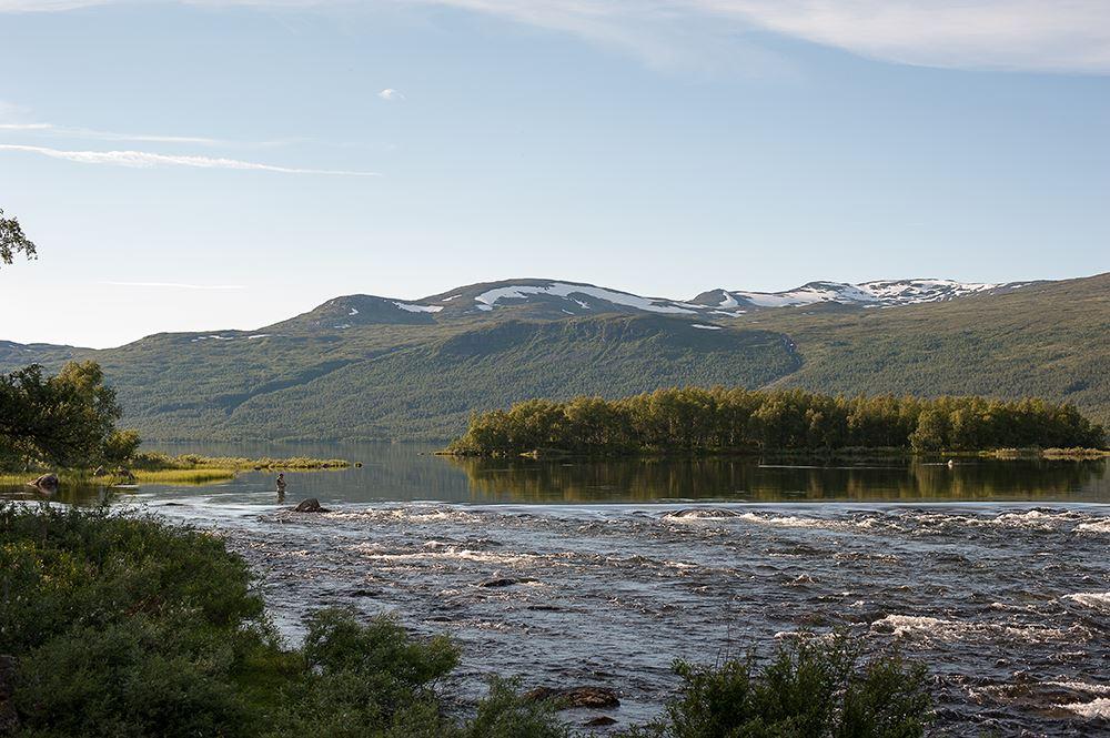 Trail along Tärna river