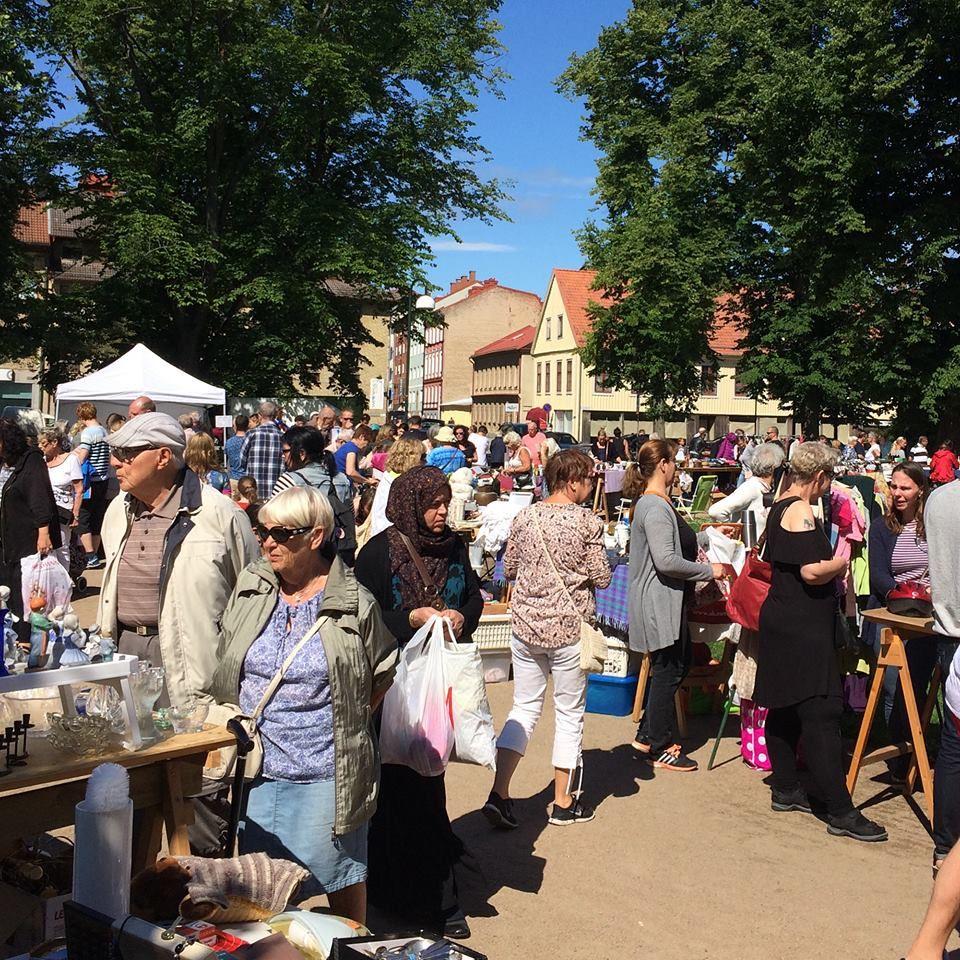 Flea market in the City