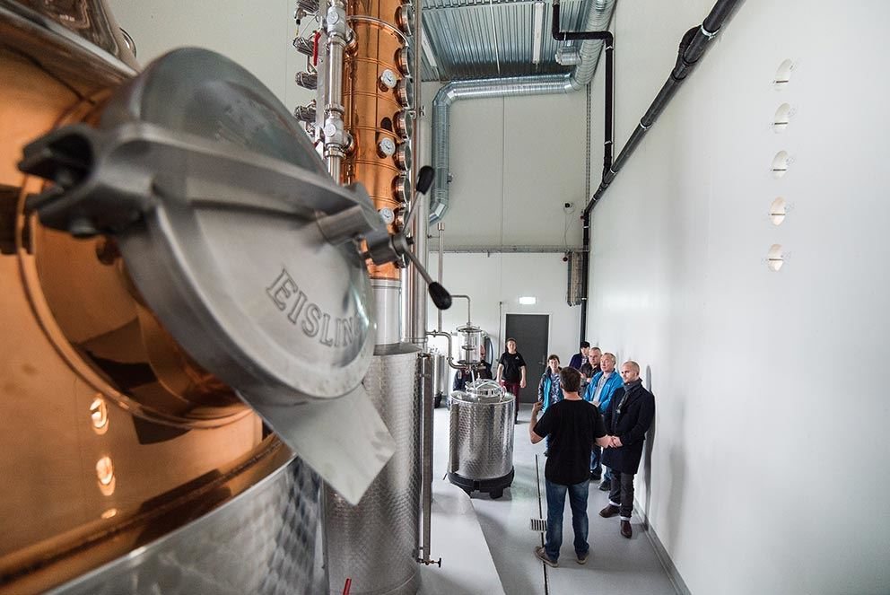 Guided tour at the worlds northernmost distillery