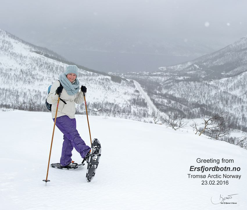 Guided snowshoeing - Ersfjordbotn Kystferie