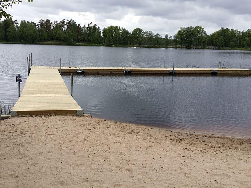 Badplats, Vägla, Hallaryd