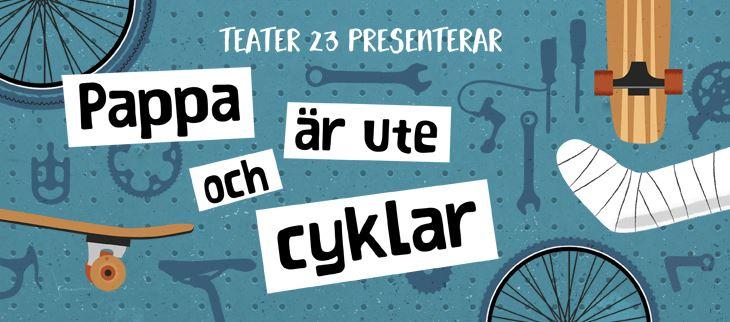Pappa är ute och cyklar (Dad is out on his bike)