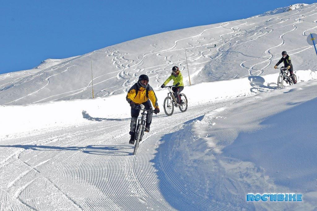 MTB on snow - Roc'n Bike - Les Menuires