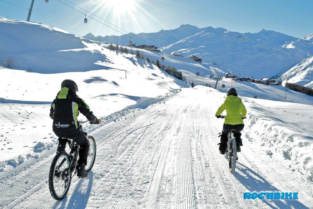 ROC'NBIKE - Initiation au VTT sur neige - Les Menuires