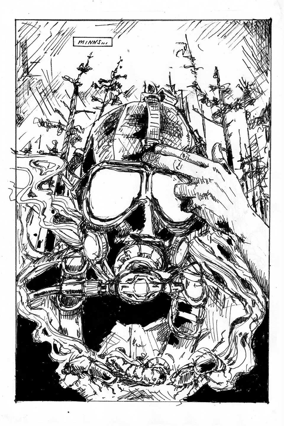 "Ylva Westerlund, ""Sulfate 3000/Gigant #7"", illustration i serietidning, 2016"