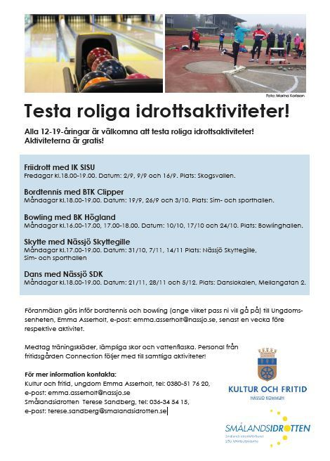Testa roliga idrottsaktiviteter -Skytte med Nässjö Skyttegille