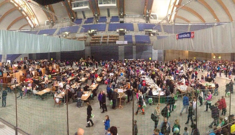 Loppemarked i Håkons Hall Lillehammer