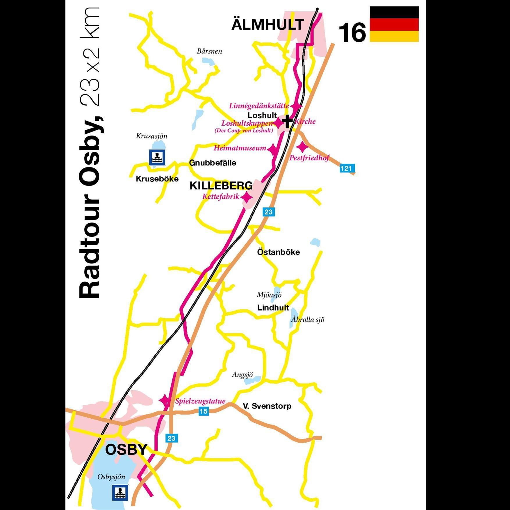 Bicycle tour - The Osby Tour - 23x2 km