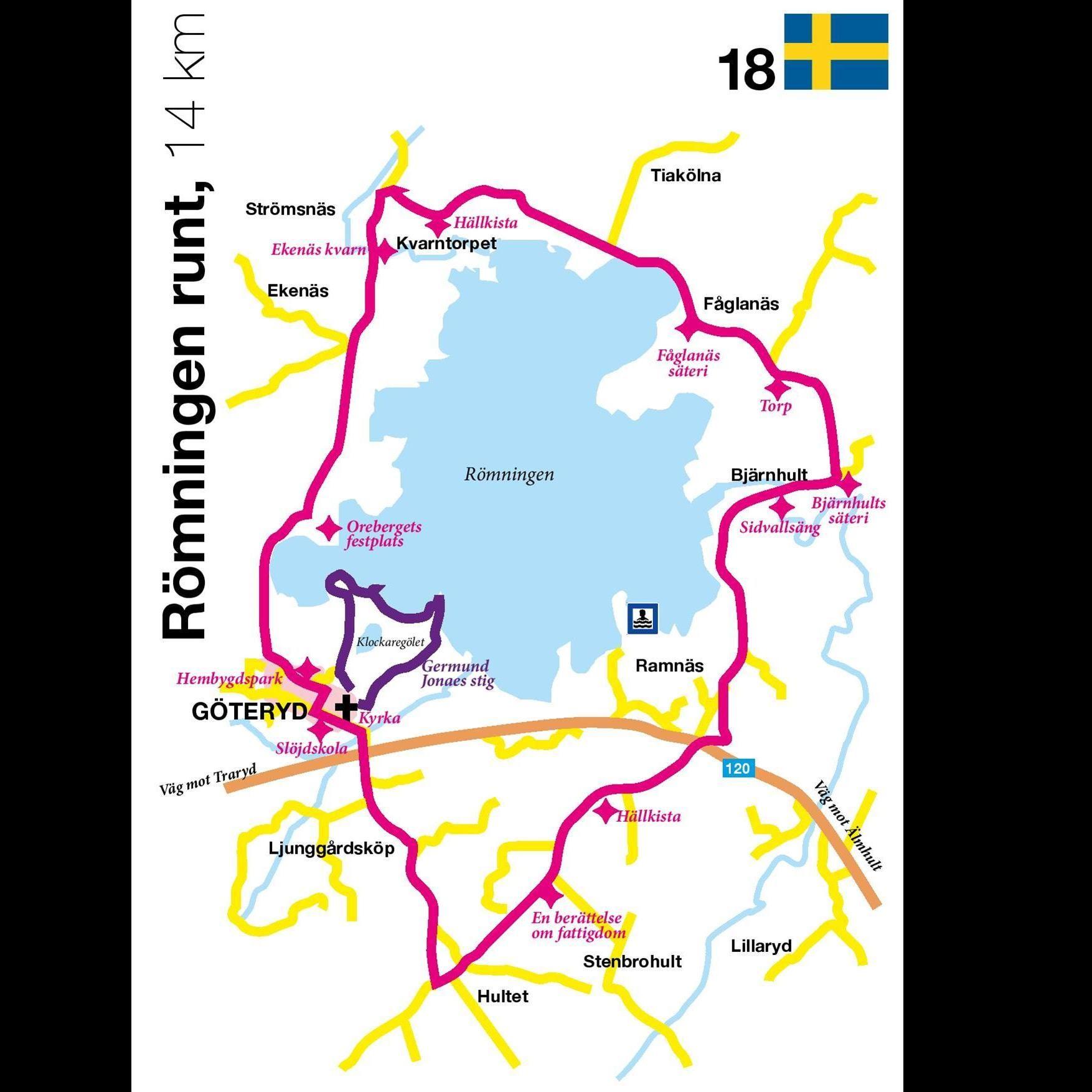 Cykeltur - Römningen runt - 14 km