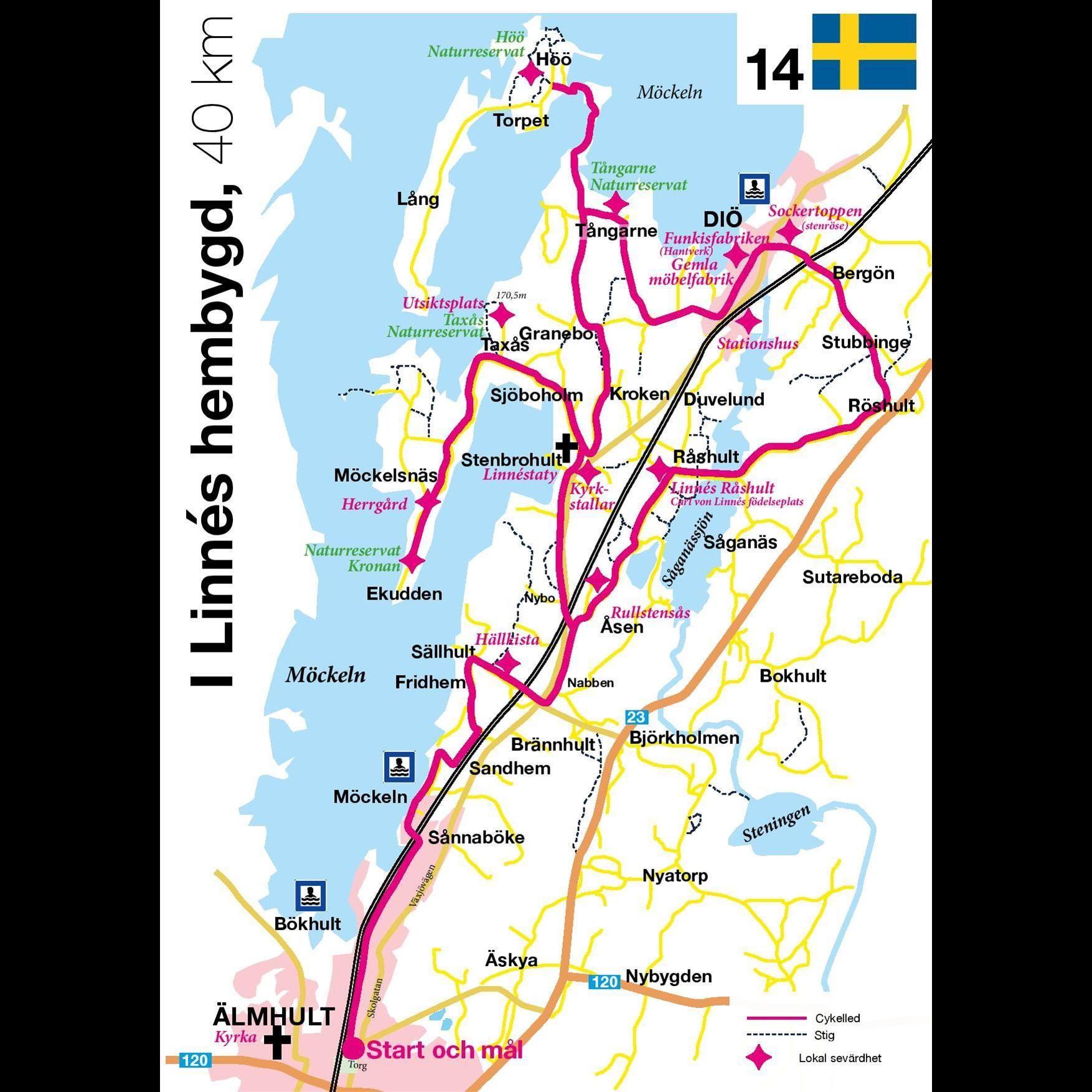 Cykeltur - I Linnés hembygd - 40 km