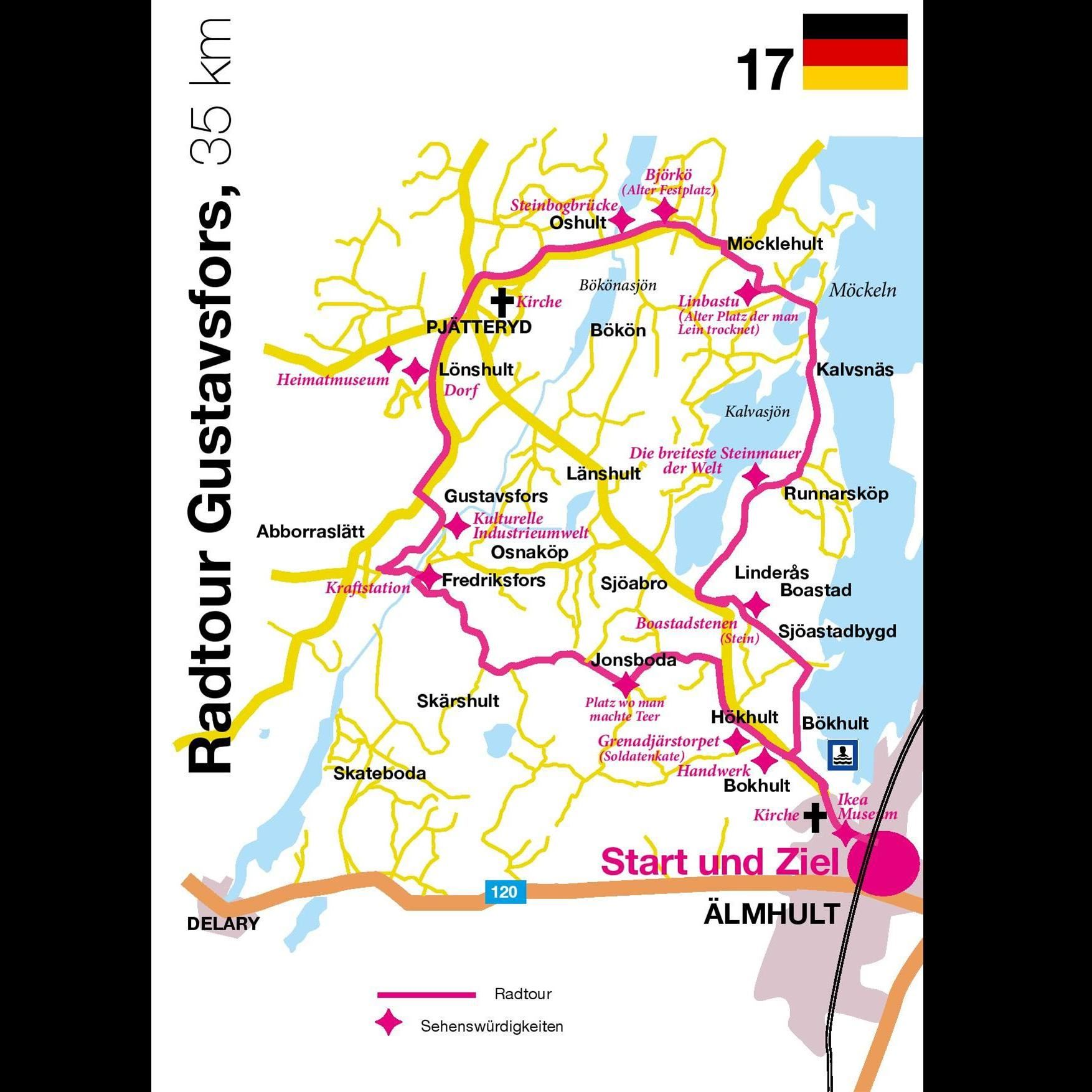 Bicycle tour - The Gustafsfors Tour - 35 km