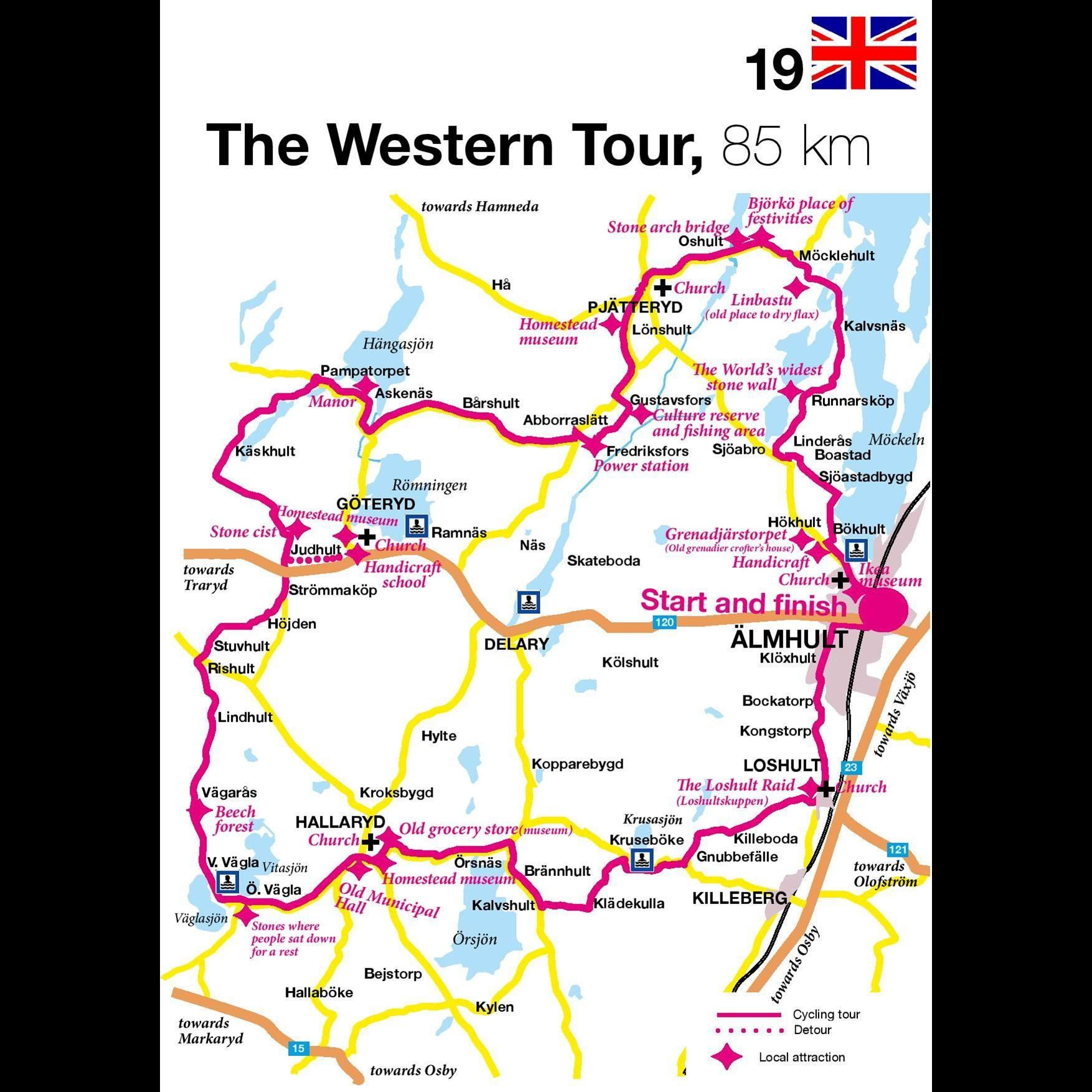 Bicycling tour - The Western Tour - 85 km