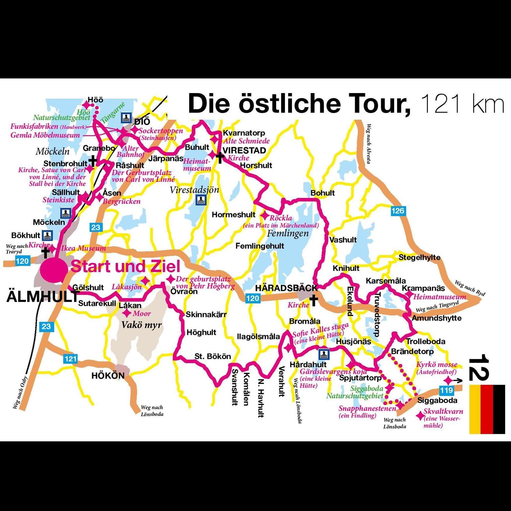 Bicycle tour - The Eastern Tour - 121 km