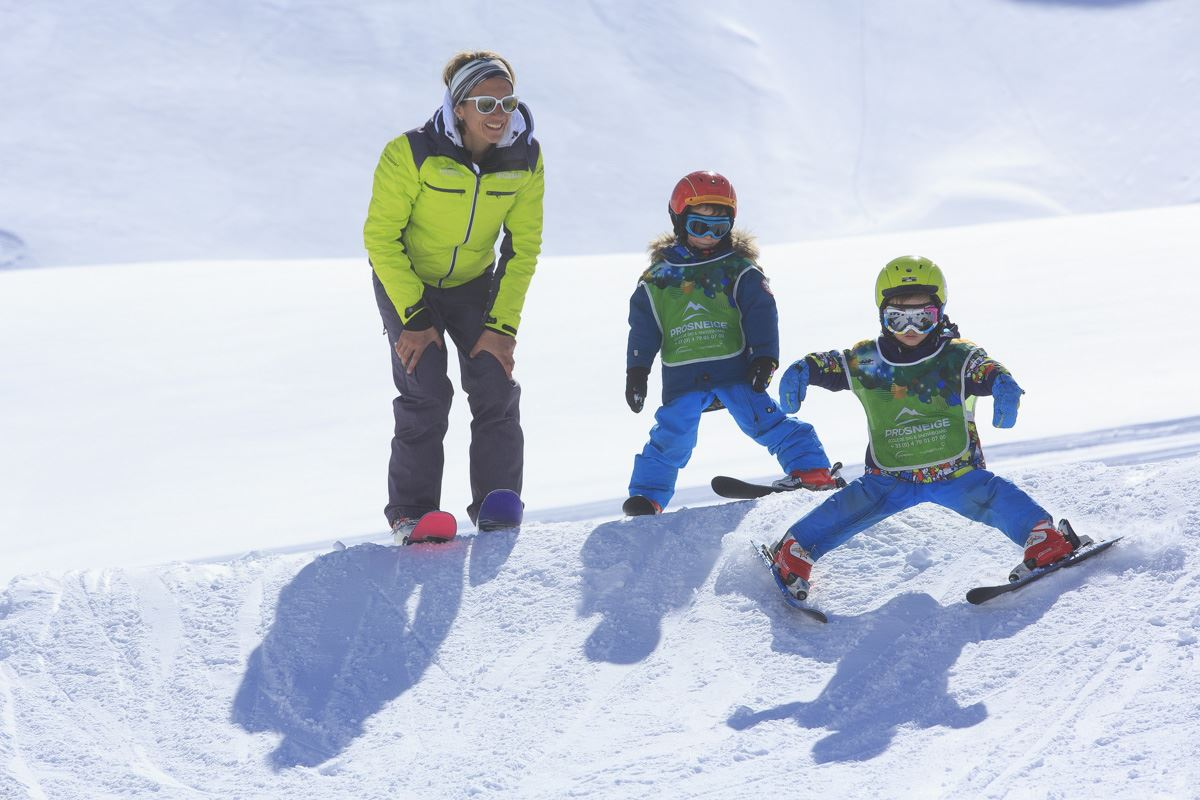 Group ski lessons, 5-12 years children, 5 mornings + 5 afternoons