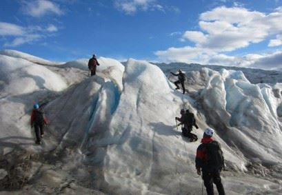 Experience the beauty of a glacier