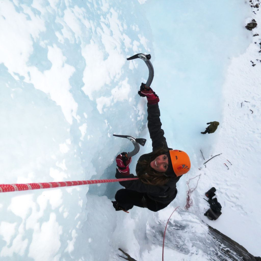 Ice climbing in Lyngen