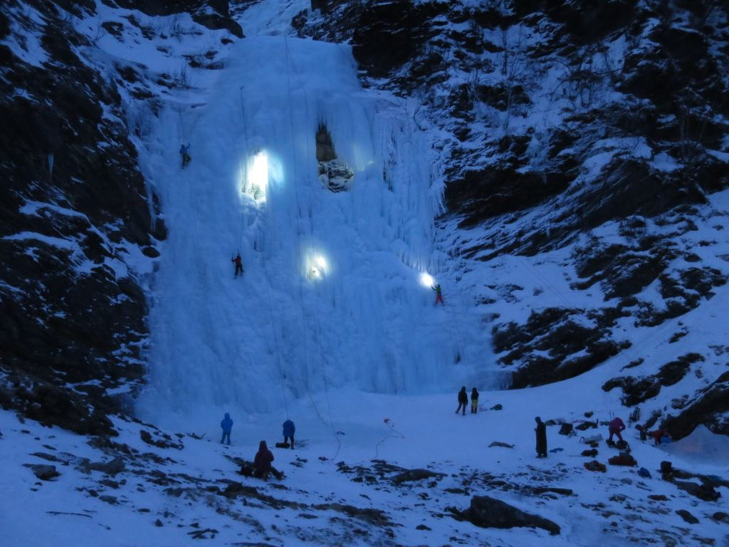 Eisklettern in Lyngen