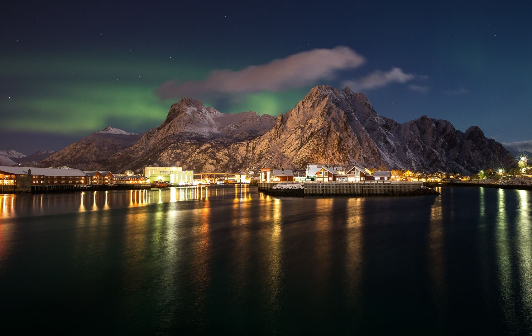 Aurora Skycam,  © Anders Hanssen, Northern Lights over Svolvær with