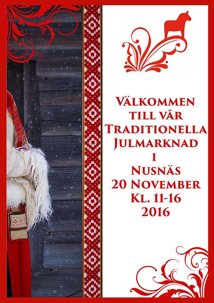 Traditionell Julmarknad i Nusnäs