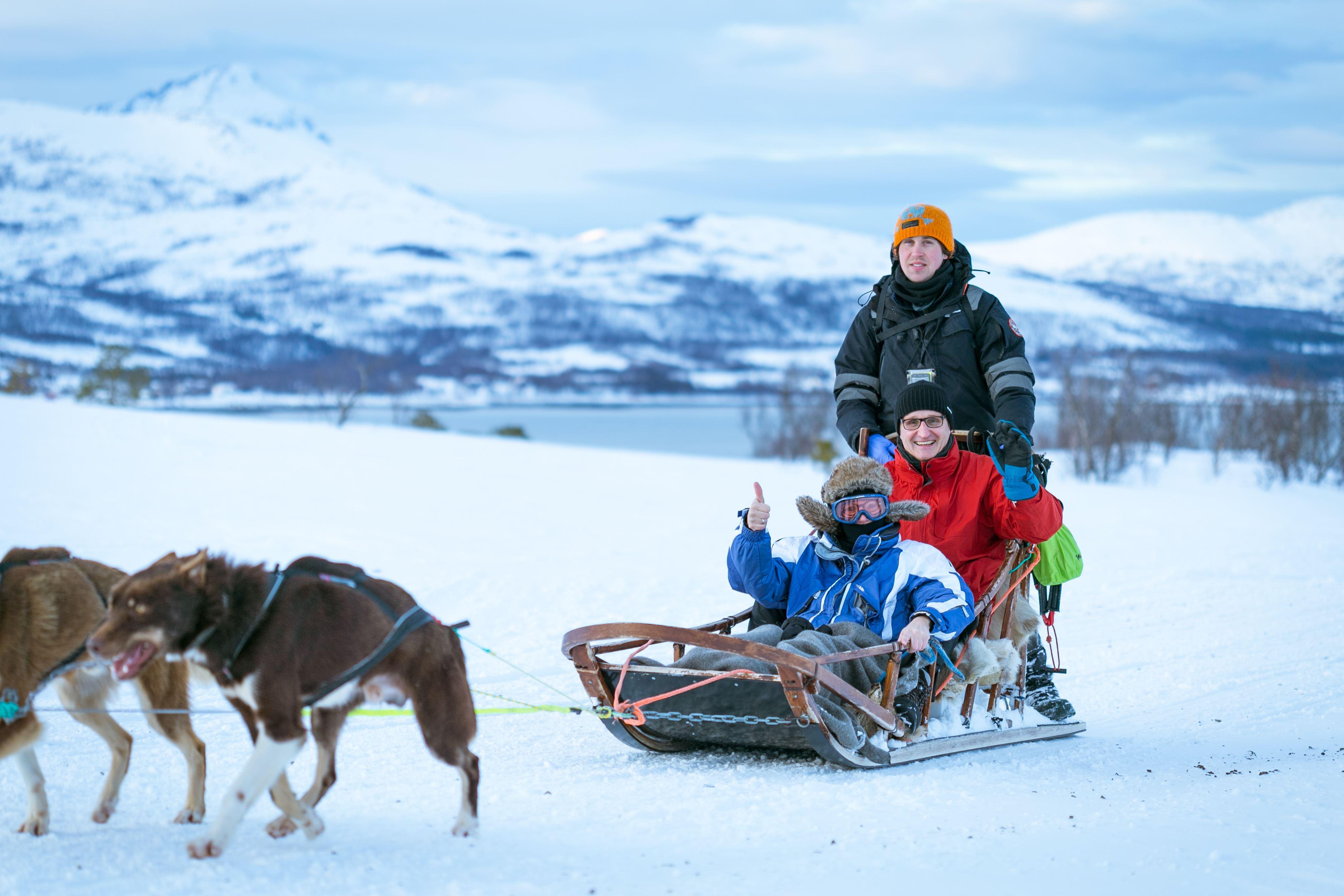 Dog sledding Ride - Tromsø Villmarkssenter