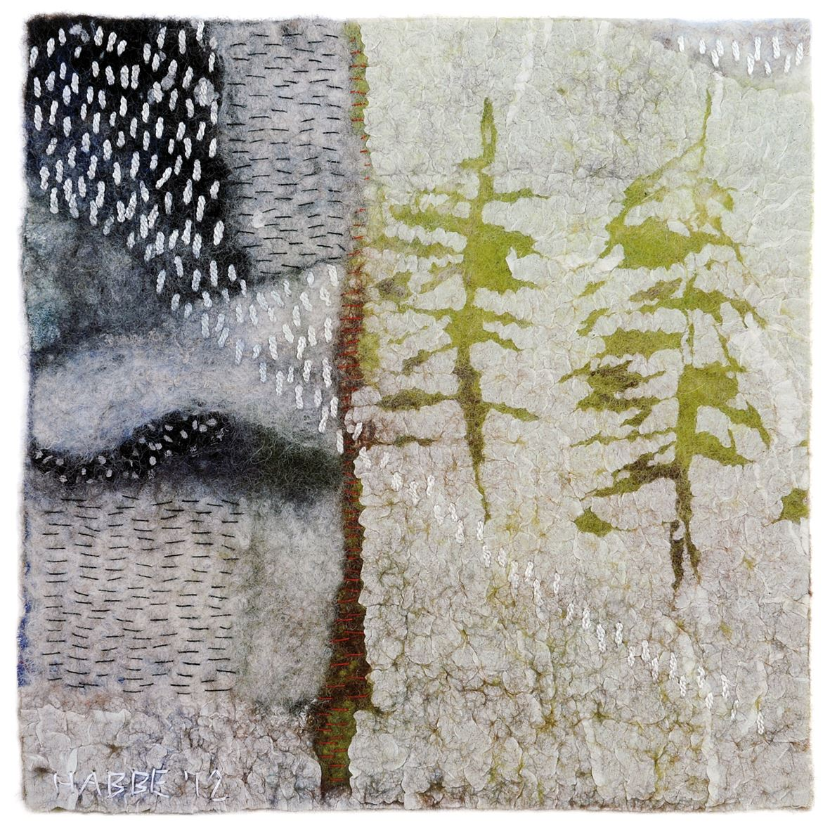 Textila bilder - filt och fibrer