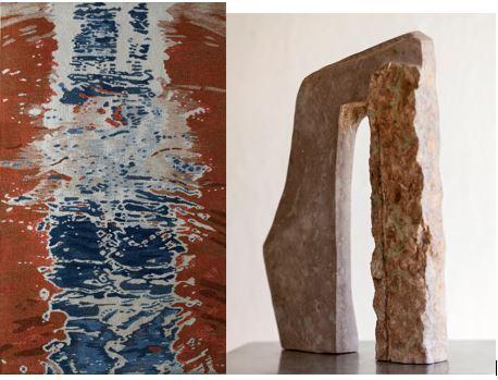 Utställning: Lore Nynnell, skulptur och Agneta B Lind textil