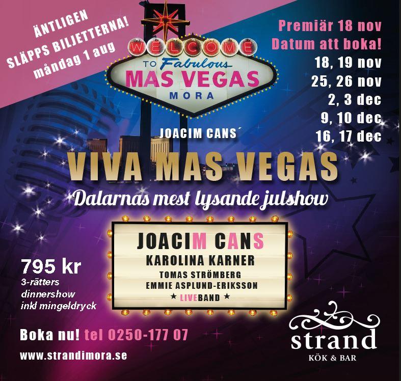 Viva Mas Vegas - Julshow på Strand Kök & Bar