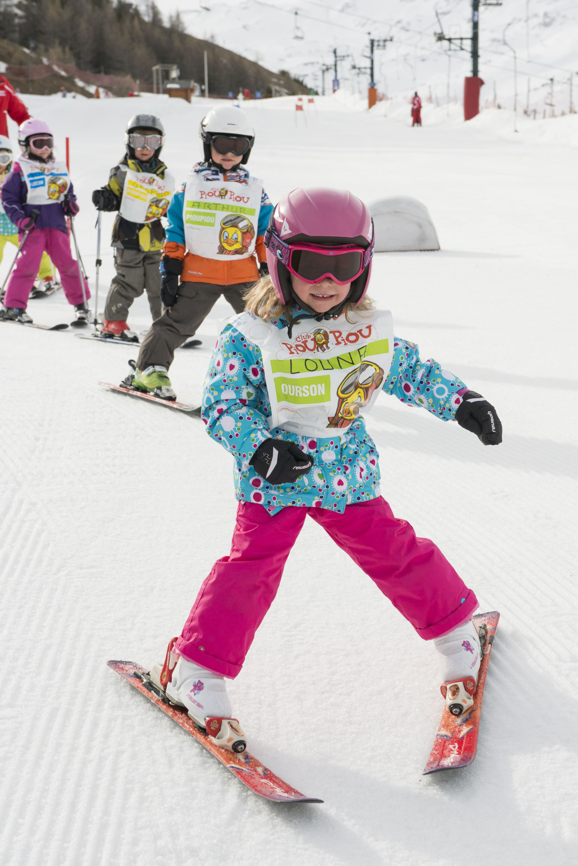 Snowball course, from 3 to 5 years, for beginners and teddy bear level, ski and games during afternoons