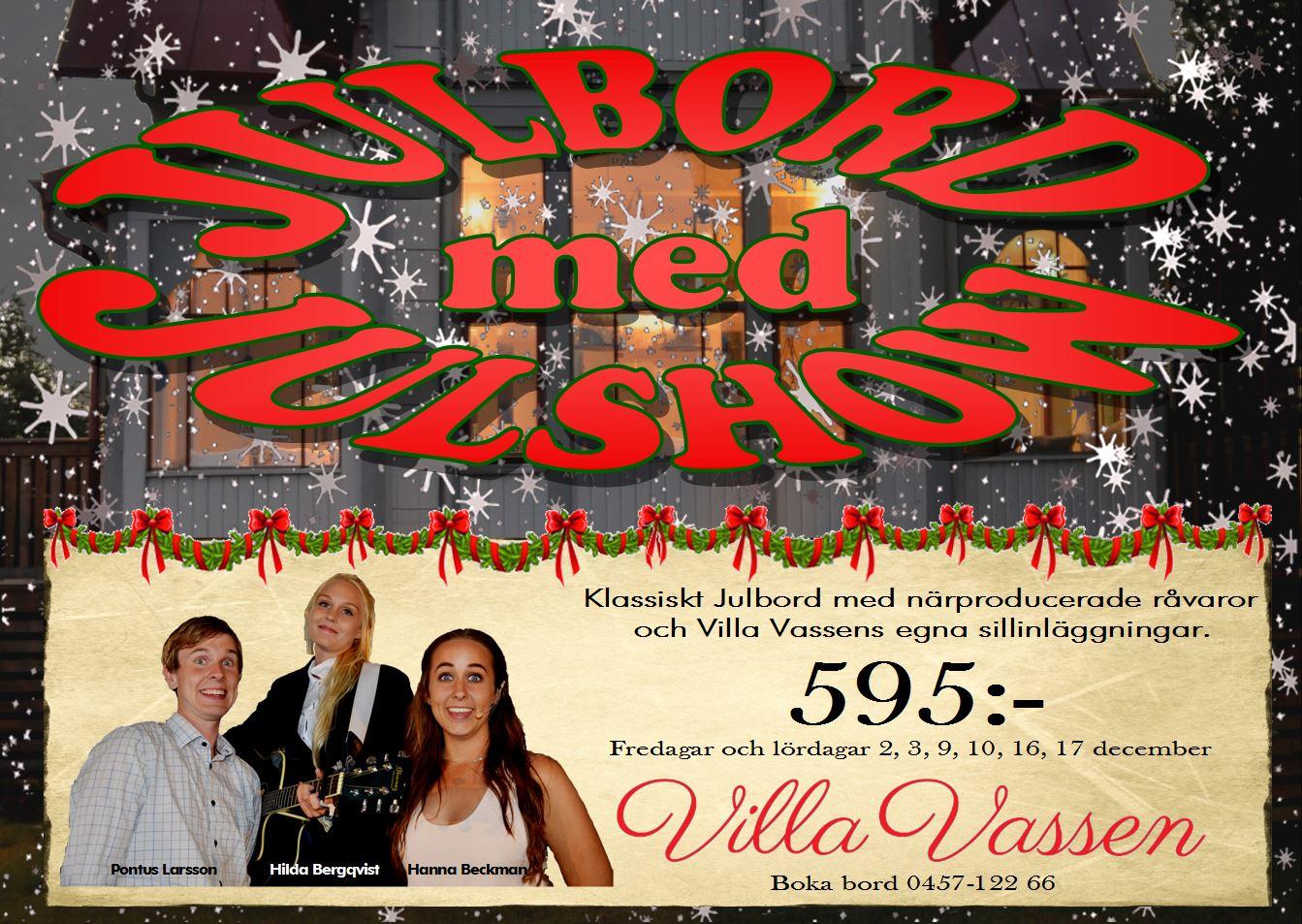 Julshow på Villa Vassen