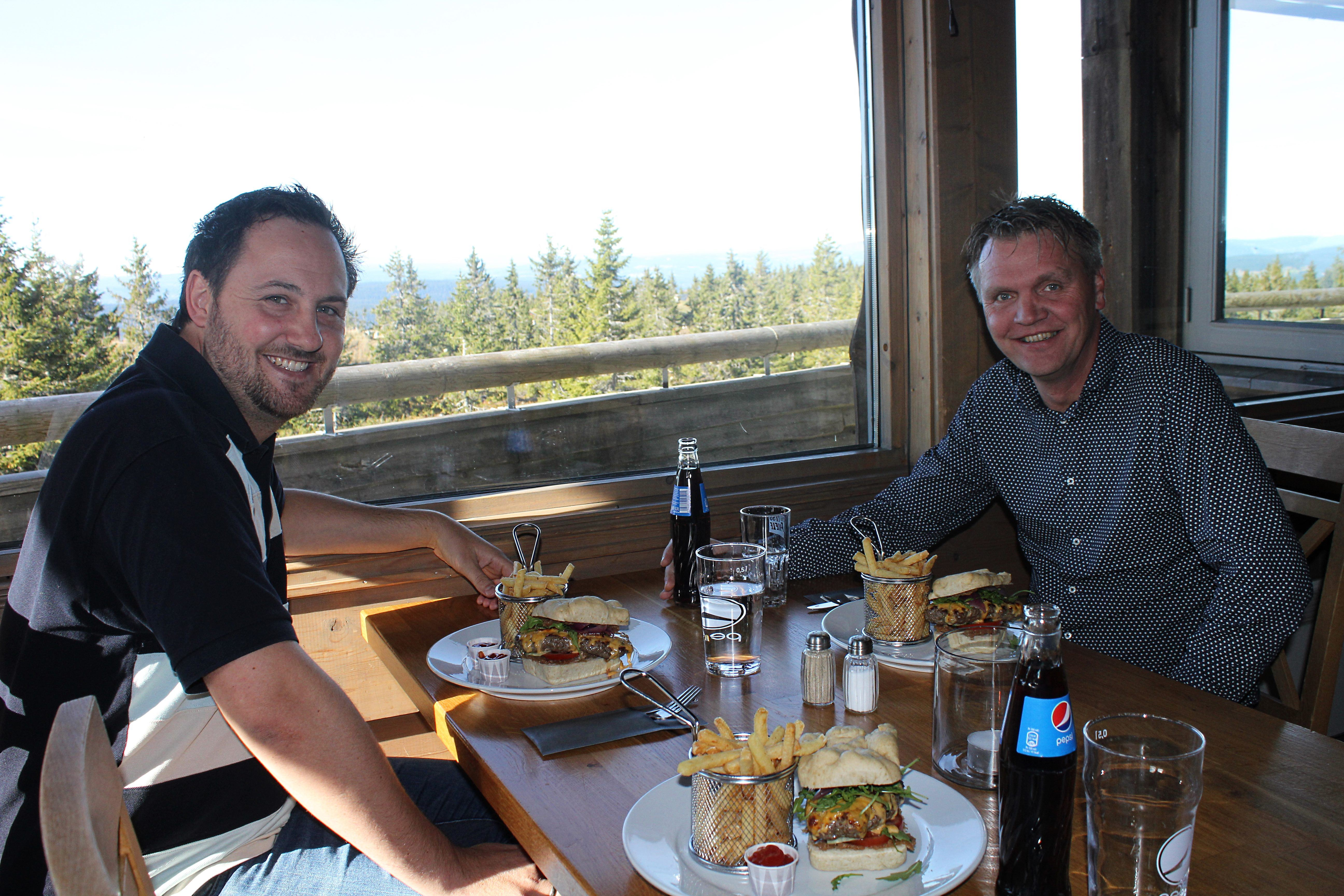 Skiers lunch at Gaiastova in Hafjell