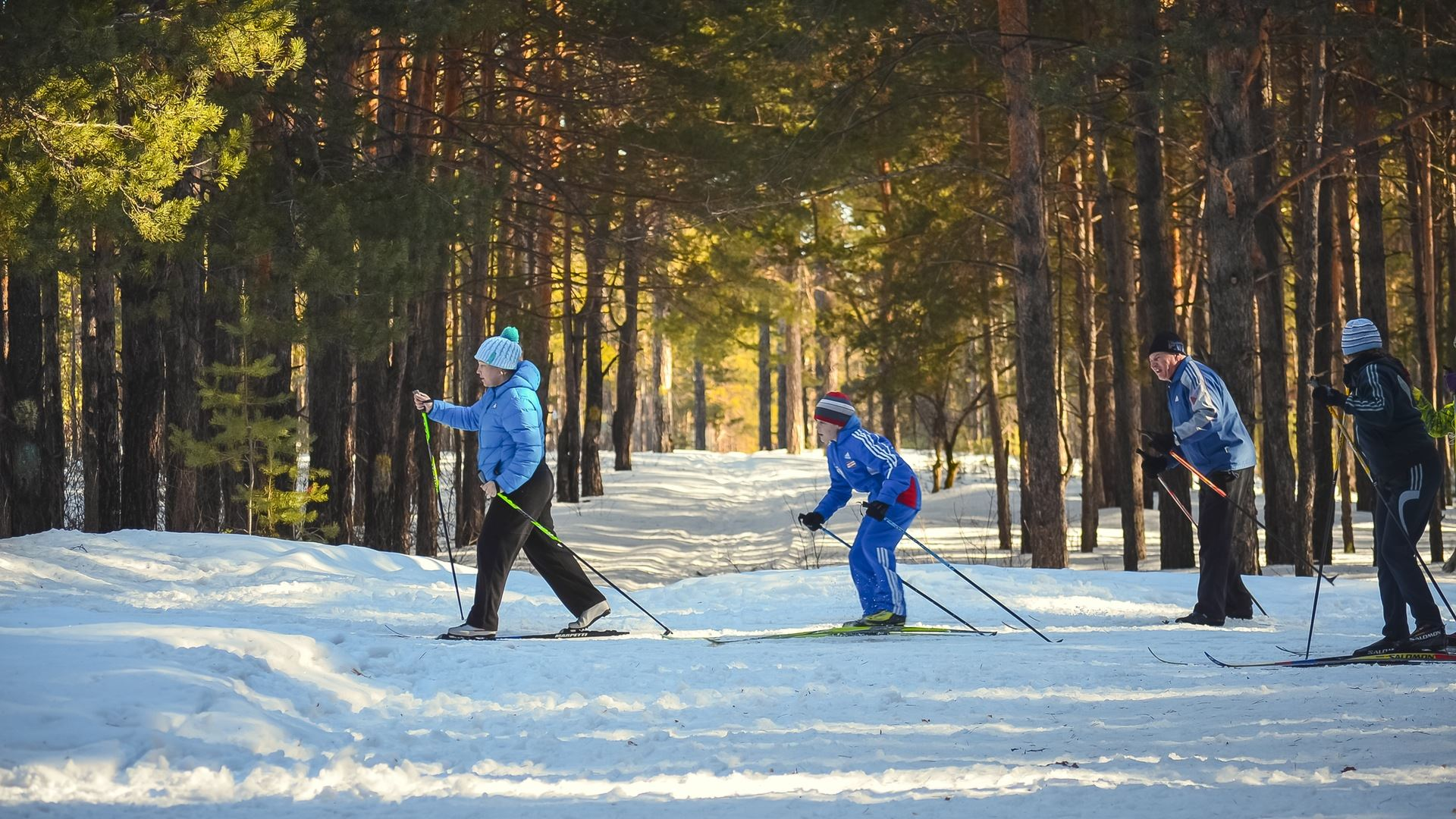 Cross-country skiing beginner course