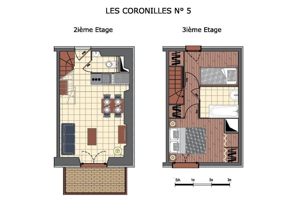 3 Rooms 4 Pers 200m from slopes/ Coronilles 5