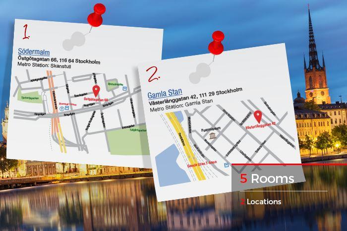 Escape room live spel i Stockholm - Alltid 10% billigare