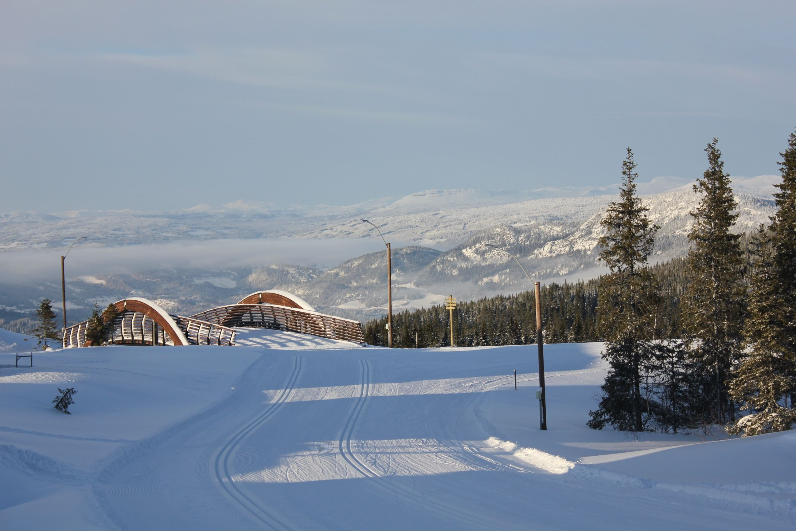 Skiing from Hafjell to Lillehammer