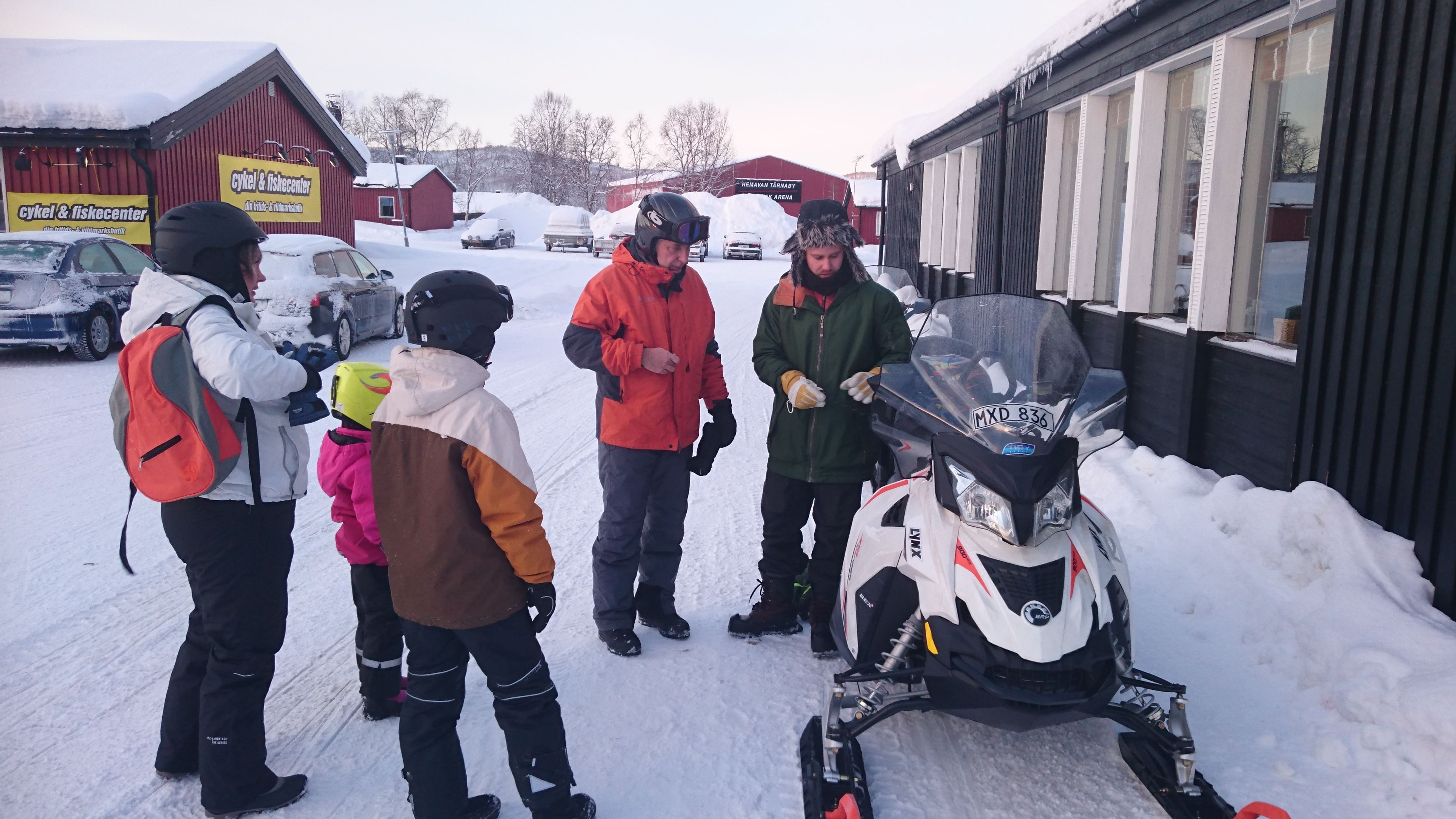 Snowmobile and icefishing