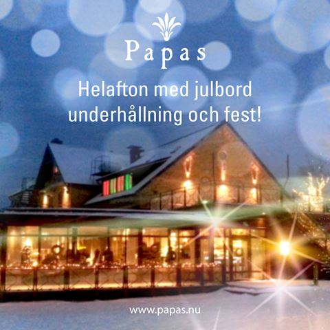 Full evening with Christmas dinner, entertainment and party at Papas