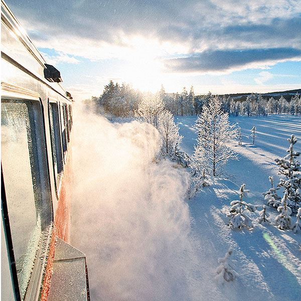 Foto: Inlandsbanan,  © Copy: Inlandsbanan, Train in winter environment