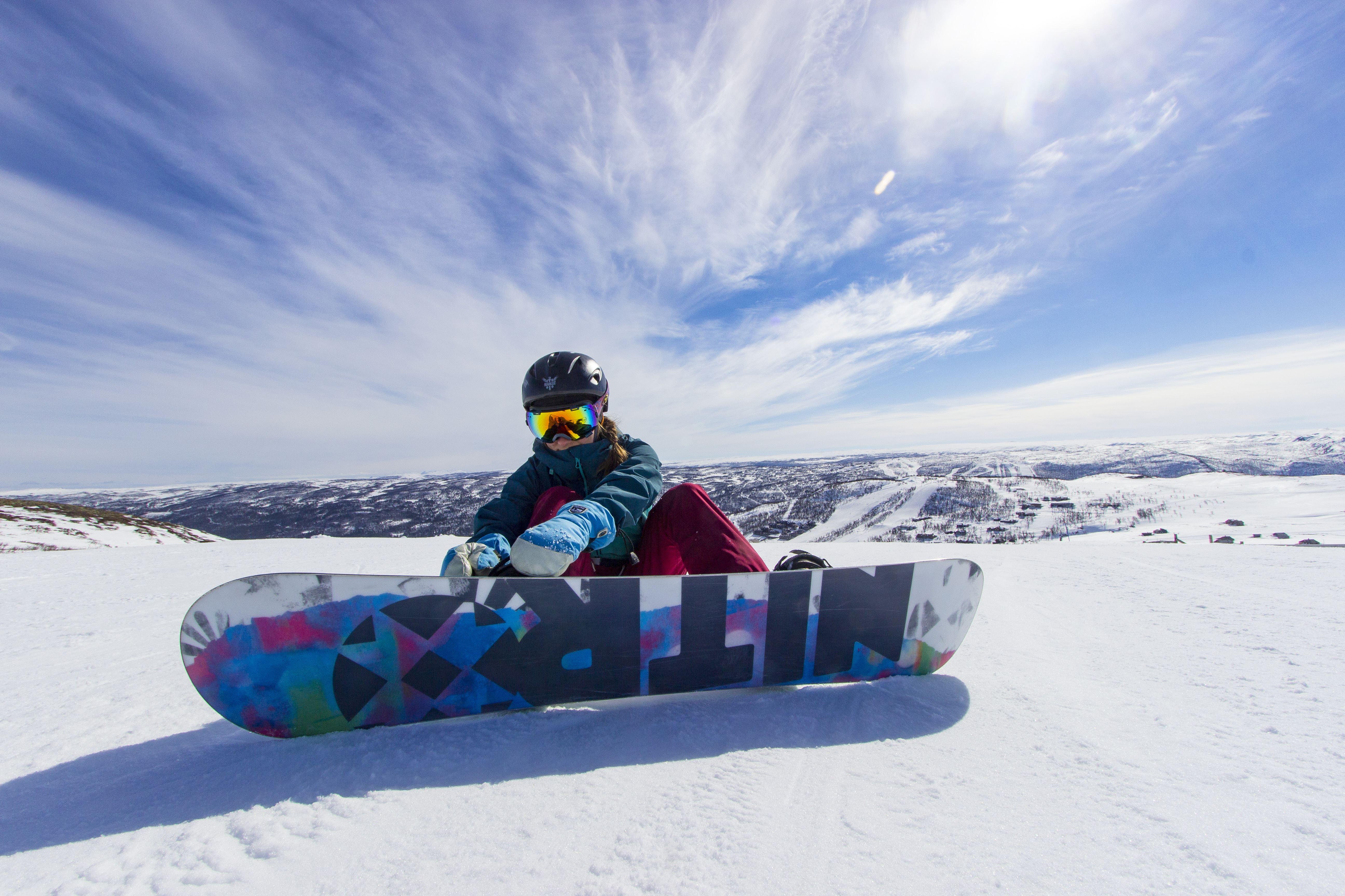 Snowboard prøve på-kurs