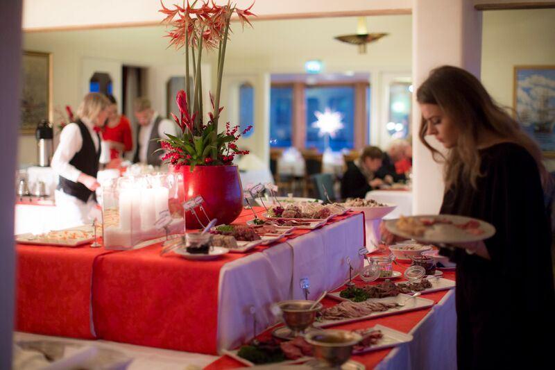 Christmas buffet at restaurant Nautical