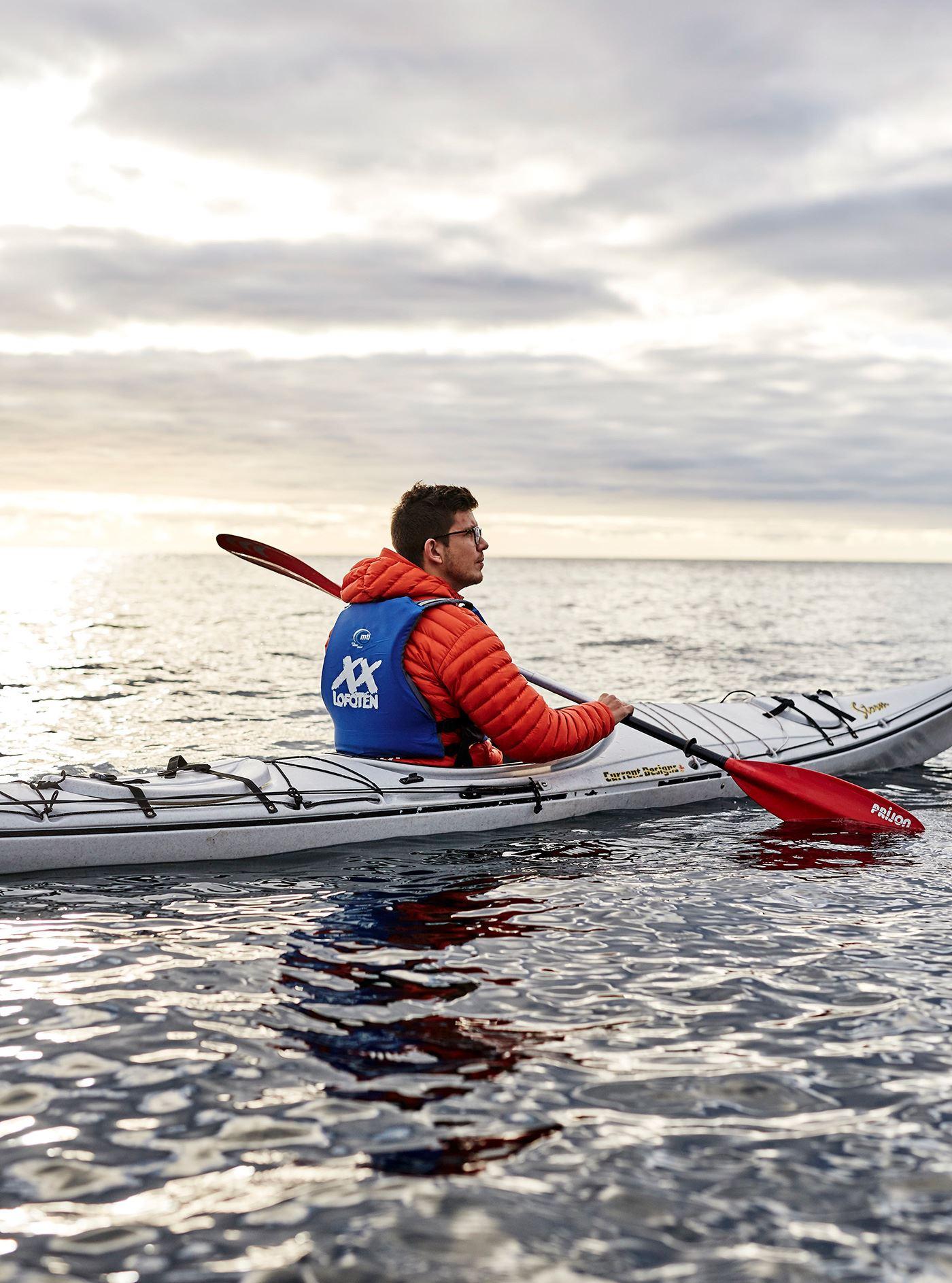 Winter kayaking from Svolvær harbour