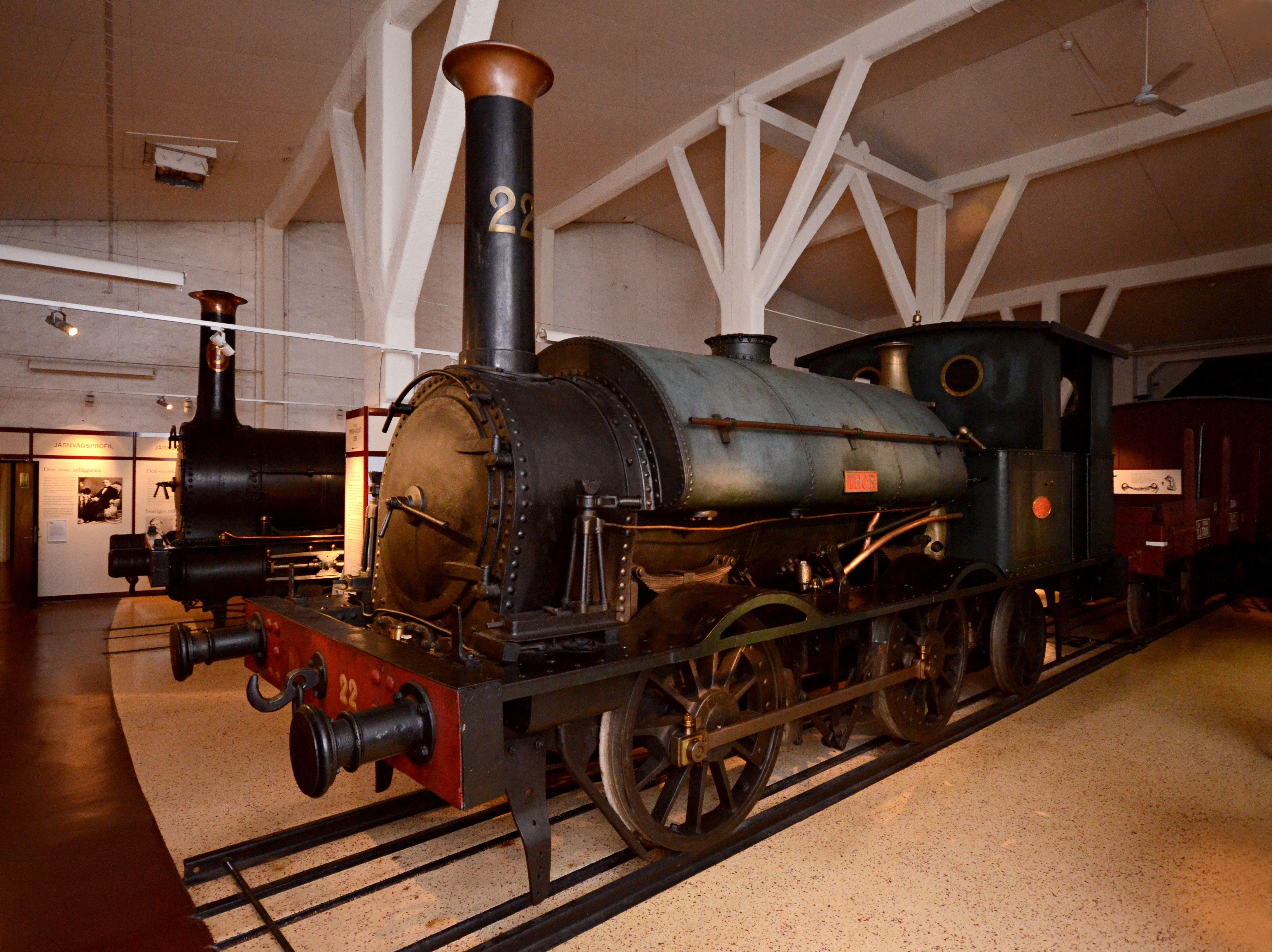 © Sveriges Järnvägsmuseum, Några av de ånglok som finns i utställningen