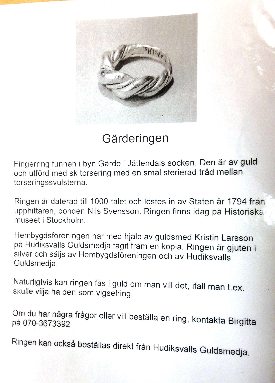 CEU,  © CEU, Jättendals hembygdsförening, Gärderingen i silver, Jättendals socken